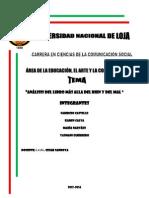 ANALISIS DEL LIBRO MÀS ALLA DEL BIEN Y DEL MAL