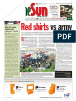 thesun 2009-04-14 page01 red shirts vs army
