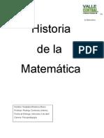 Historia de la Matemática - tarea