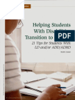 Helping Students With Disabilities Transition to College