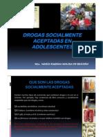 Drogas Socialmente Aceptadas en Adolescentes