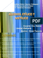 alcohól y metanól Farmacología