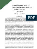Las 95 Tesis Indulgencia y Gracia 1517 Adap. 2011
