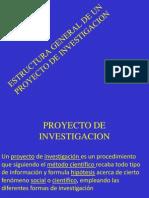 Estructura General de un Proyecto de Investigación