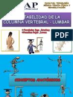 Inestabilidad de La Columna Vertebral - Lumbar.pptxestefany y Lorena