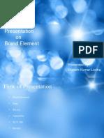 Presentation on Brand Element