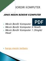 Mesin Bordir Komputer Info Dasar