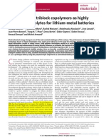 Single-ion BAB triblock copolymers as highly
