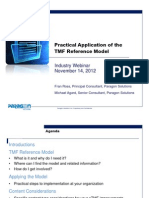 Practical Application of the TMF Reference Model