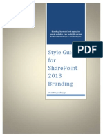 Style Guide for SharePoint 2013 Branding