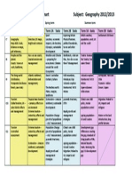 Maharishi Secondary School Curriculum Geography Scheme of Work Overview Chart for the Year 2012 2013