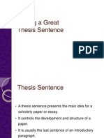 the writing process-thesis