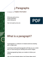 the writing process-paragraphs