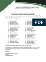 List of staff members.