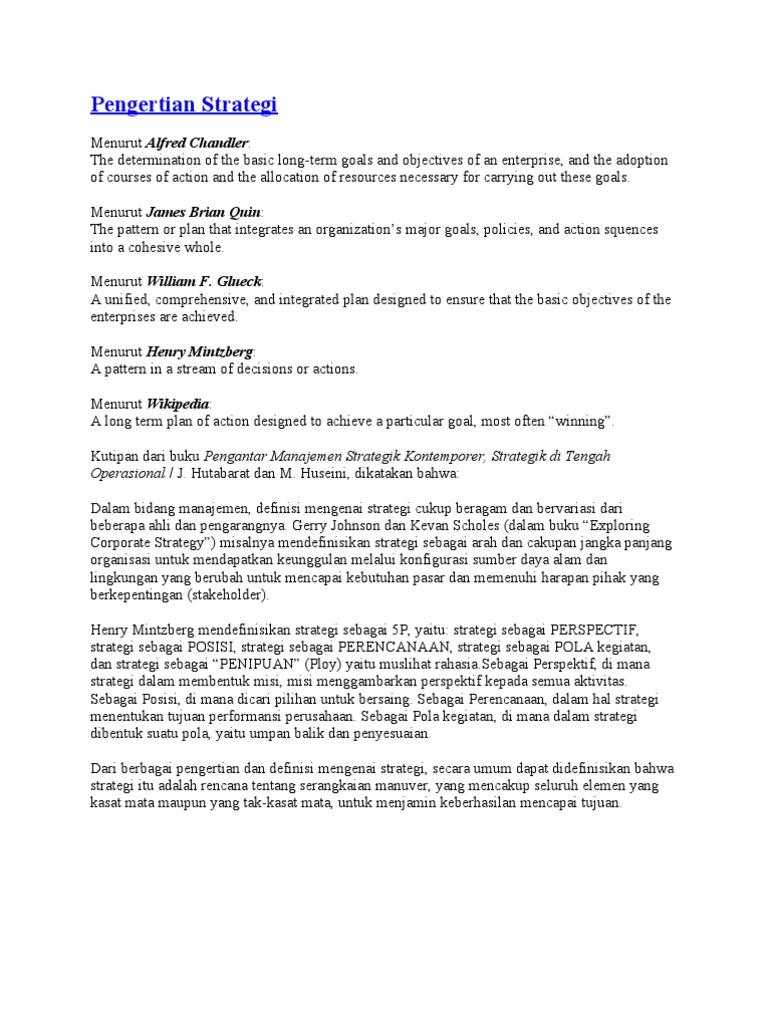 MANAJEMEN STRATEGI | fridiyanto yanto - cryptonews.id