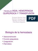 HEMOSTASIA, HEMORAGIA   QUIRÚRGICA Y TRANSFUSIÓN3.ppt