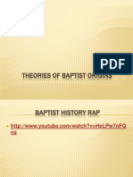 Theories of Baptist Origins