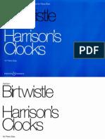 Birtwistle Harrisons Clocks