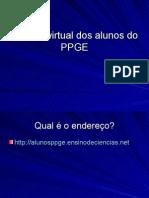"""Se cadastrando no """"Espaço virtual dos alunos do PPGE - UFSCar"""""""