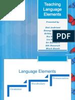 Teaching language elements