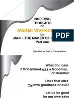 Inspiring Thoughts of Swami Vivekananda on Man the Maker of His Destiny - Part 1 -