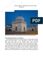Brief biography of Hazrat  Meran Ji  Khudanuma  Hussaini  Saheb Hyderabad