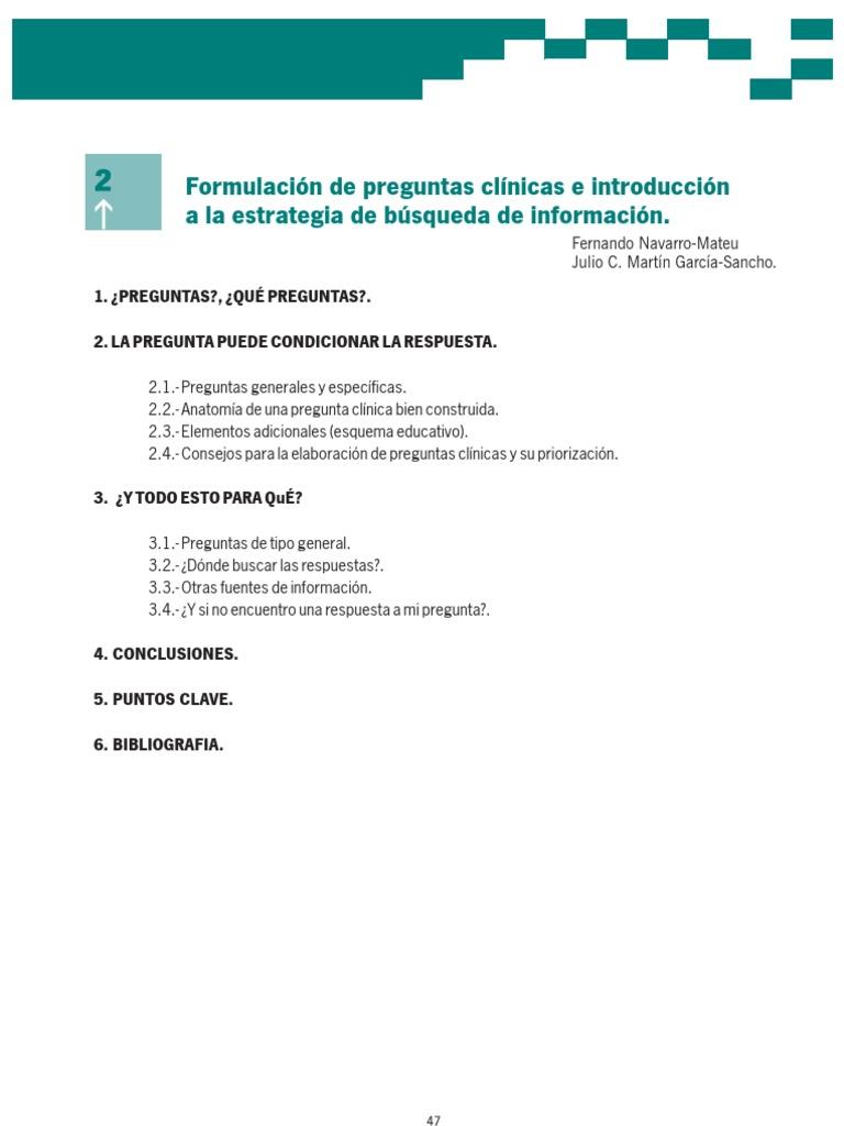 Moderno Anatomía Preguntas Clínicas Motivo - Anatomía de Las ...