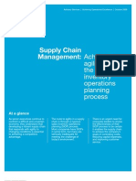 agile Sales Inventory Operations Planning Process