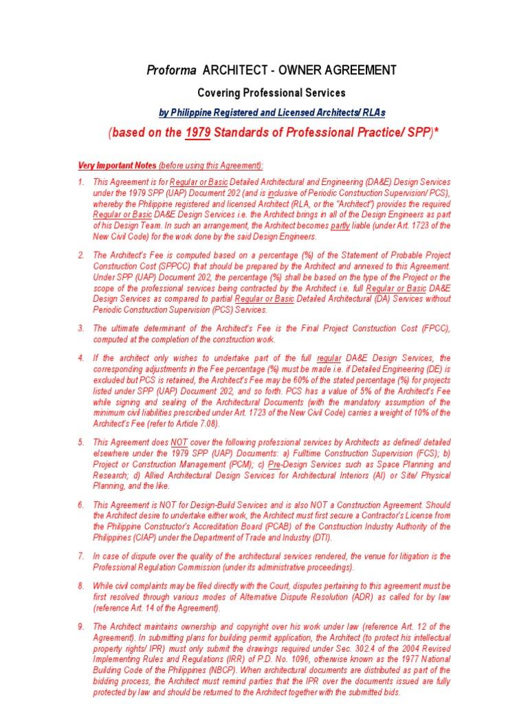 Spp doc contract architect construction bidding platinumwayz