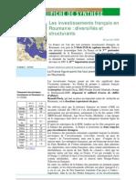 Les investissements français en Roumanie