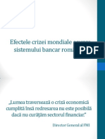 Efectele Crizei Mondiale Asupra Sistemului Bancar Romanesc