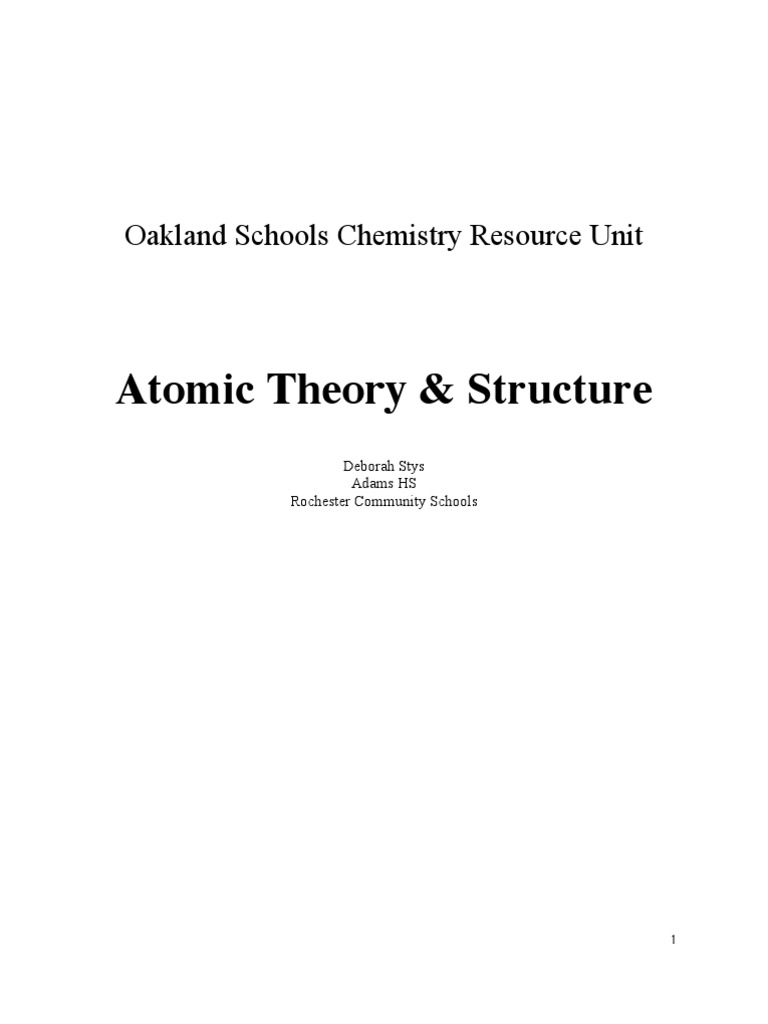 Atomic theory structure atoms atomic nucleus fandeluxe Image collections