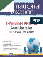 Taxmann May 2013 Transfer Pricing Documentation