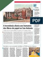 A tecnoloxía afasta aos humanos dos libros de papel en San Antonio. La Voz de la Escuela 17.04.2013pdf