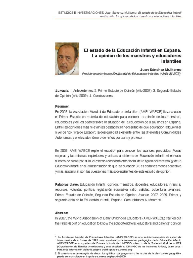 artículo interesante sobre la educación infantil