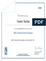 EMC Velocity SE Accreditation_ Scale-Out NAS 2013 Certificate