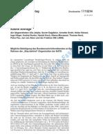 """Kleine Anfrage - Mögliche Beteiligung des Bundesnachrichtendienstes an Bombenanschlägen im Rahmen der """"Stay-behind""""-Organisation der NATO (Deutscher Bundestag 23.4.2013)"""
