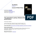 The opposition's policy influence through issue  politicisation