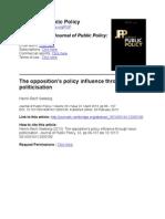 Theopposition'spolicyinfluencethroughissue politicisation