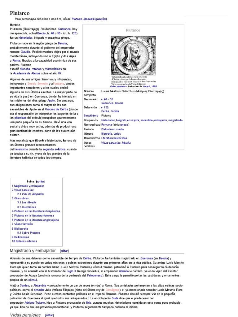 Plutarco - Wikipedia, la enciclopedia libre.pdf   Plutarco   Personas