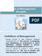 Definition & Evolution of Management