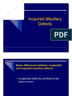 Acqiured Maxillary Defects [Compatibility Mode]