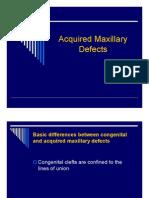 Acqiured Maxillary Defects [Compatibility Mode]
