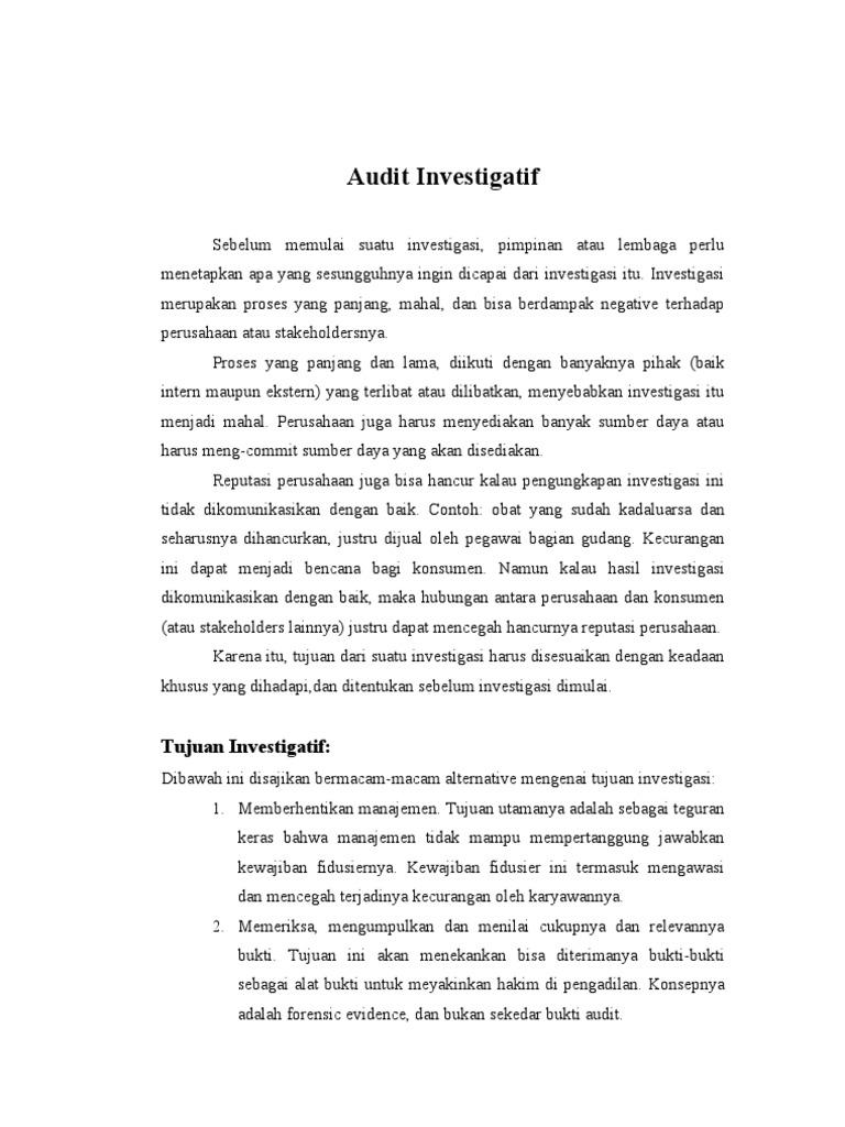 Audit Investigasi Doc