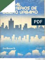 Manual de criterios de diseño urbano [Jan Bazant S.]