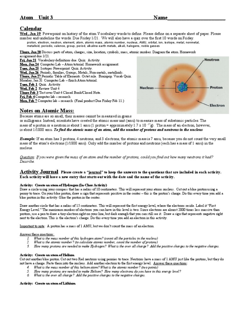 9aep Atomic Structure Wk3 Manual Guide