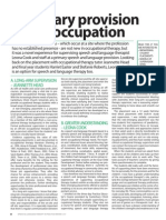 A primary provision under occupation