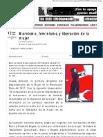 Marxismo, feminismo y liberación de la mujer