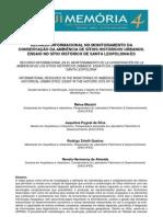 Recurso informacional no monitoramento da conservação da ambiência de Sítios Históricos Urbanos. Ensaio no Sítio Histórico de Santa Leopoldina/ES