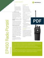 Brochure Portatil EP450 Sin Pantalla